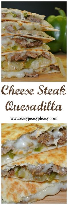 Steak Quesadillas Are A Crowd Pleaser Cheese Steak Quesadillas are the perfect twist on this Tex-Mex classic.Cheese Steak Quesadillas are the perfect twist on this Tex-Mex classic. I Love Food, Good Food, Yummy Food, Mexican Dishes, Mexican Food Recipes, Mexican Cheese, Mexican Desserts, Nacho Cheese, Mexican Chicken