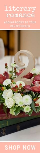 Gorgeous Wedding Ideas Using Books in Your centerpieces - Don't Forget the Matching Table Numbers from the #1 Wedding Shop www.ZCreateDesign.com or ZCreateDesign on Etsy!