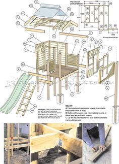 #3072 Backyard Playhouse Plans - Children's Outdoor Plans #kidsplayhouseplans #outdoorplayhouseplans #playhousebuildingplans