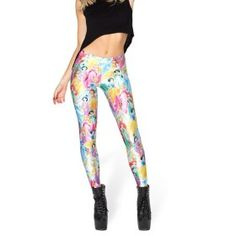3cd4c07b8f69 Women Graffiti Print Punk Funky Stretchy Skinny Leggings Slim Pencil Pants  New