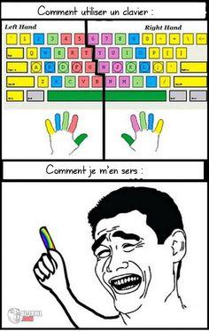 Comment utiliser un clavier... - Be-troll - vidéos humour, actualité insolite
