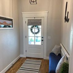 Don't want to put holes in your door? This front door curtains installs in seconds without using any hardware. Similar to a Roman Shade without all the fuss!