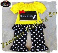 Custom Boutique Clothing Back To School by ZamakerrClothingCo, $46.99