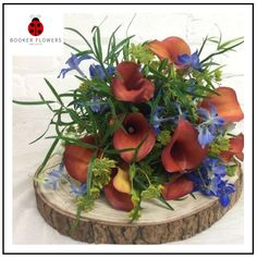 Orange and blue bride hand tied bouquet for rustic Wedding Flowers Liverpool, Merseyside, Bridal Florist, Booker Flowers and Gifts, Booker Weddings Pool Wedding, Wedding Bride, Rustic Wedding, Wedding Flowers, Wedding Venues, Dream Wedding, Bride Bouquets, Bridesmaid Bouquets, Vera Wang Wedding