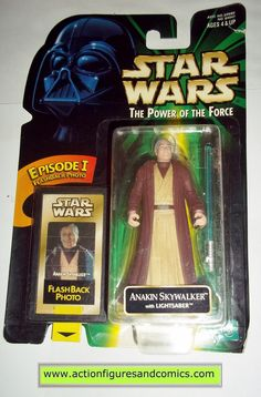 star wars action figures ANAKIN SKYWALKER flashback power of the force 1998 hasbro toys moc mip mib