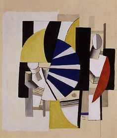 Fernand Léger, COMPOSITION (DEUX FIGURES CUBISTES)