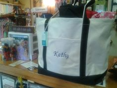 Canvas Tote With Your Name or Monogram