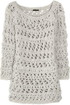Open-knit cashmere sweater by Donna Karan