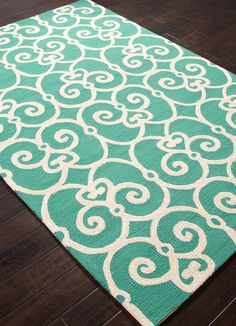 Love this design! Waterfall Scrollwork Area Rug