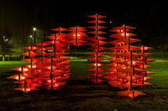 Outdoor Sculpture in #Portugal Made of Hundreds of Traffic Cones by LIKEarchitects