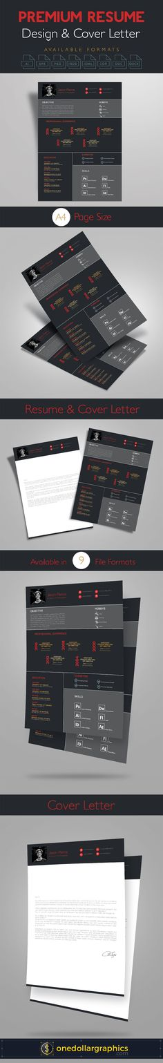 Today We Are Sharing The Simple Yet Premium Resume CV Design Cover Letter Template