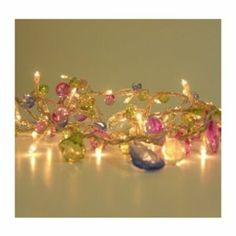 Fairy Lights - Bohemia - Elegant String with Jewels - 50 LED String Lights - Mains Powered - ThinkGadgets - Transformer Supplied: Amazon.co....
