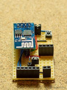 ESP8266 (ESP-01) dev board front-view
