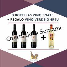 ¡¡ NUEVA OFERTA DE LA SEMANA !! La OFERTA comprende 3 Botellas de #Vino #ENATE Tinto Crianza 75 cl. + #REGALO 1 Botella de Vino #4R4U Blanco #VERDEJO. Válida hasta el Domingo 16/10/2016 o hasta Fin de Existencias. http://tienda.bottleandcan.com/es/ #ofertas #oferta #wine #winelover #winery #bodega #viñedo #vineyard #uva #grape #vendimia #vintage #TiendasOnline #Gourmet #bottleandcan #Granada #Andalucia #Andalusia #España #Spain   +34 958 08 20 69  +34 656 66 22 70