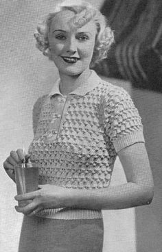 1935 Bell Pattern Top vintage knitting Pattern 011 | eBay