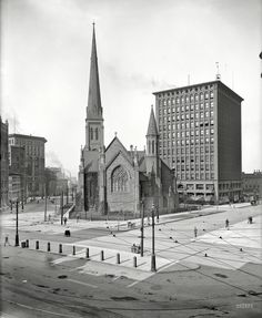 No cars around in Buffalo, New York, 1900.