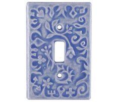 Ceramic Light Switch Cover Whimsical Design by HoneybeeCeramics, $20.00