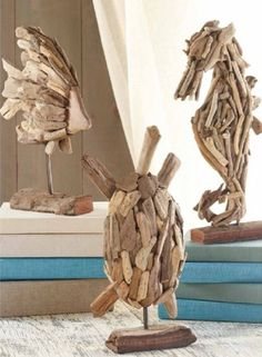 Driftwood Sealife. Natural Pieces Of Aged Driftwood Are Pieced Together By  Hand To Create These