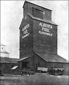 Alberta Pool Elevators. These dot the countryside along the railroads. Wheat is stored there till shipped to the east or west coast.