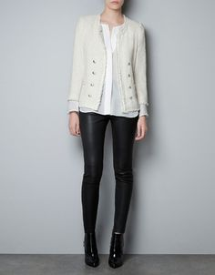 Such a great basic it will go with everything! FANTASY FABRIC BLAZER - Blazers - Woman - ZARA United States