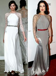 Dita Von Deese looking great in this grey gown.