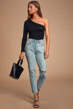 Women Casual Jeans Outfit Legging Pants Maroon Pants Outfit Casual Meeting Outfit Rock Climbing Pants Elegant Casual Clothes Casual Wedding Looks For Guys Maroon Pants Outfit, Outfit Jeans, Legging Outfits, Mens Wedding Looks, Black One Shoulder Top, Meeting Outfit, Casual Outfits, Fashion Outfits, Casual Jeans
