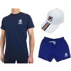 Franklin & Marshall mens summer t-shirt and swim shorts