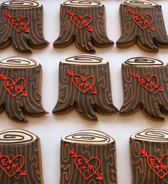 Carved initials cookies