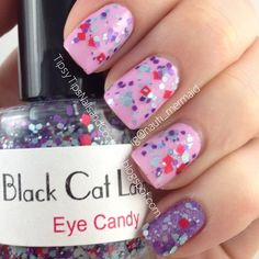POLISH ME TO GO Like Grapes? Topped with BLACK CAT LACQUER Eye Candy; Accent COLOR CLUB Eternal Beauty also topped with BCL - normal lighting