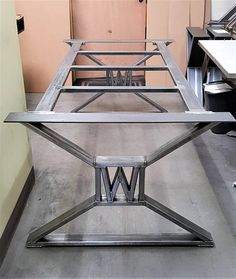 Modern Industrial Dining Table Legs with builded