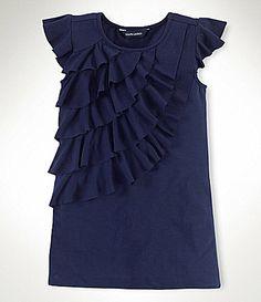 Ralph Lauren Childrenswear 2T-6X Flutter-Sleeve Dress