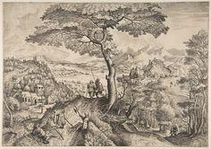 Artist: after Bruegel, Pieter the Elder, Title: »The Large Landscapes« Soldiers at Rest (Milites Requiescentes), Date: ca. 1555-1556