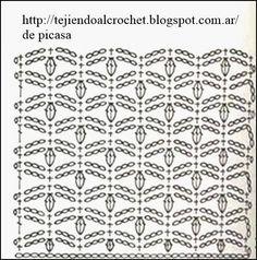 PATRONES=GANCHILLO = CROCHET = GRAFICOS =TRICOT = DOS AGUJAS: PUNTOS PARA TEJER A CROCHET Y SEGUIR COLECCIONADO
