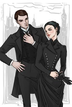 """Partners in crime solving - Cresswell & Wadsworth:) (""""Stalking Jack the Ripper"""" by Story Inspiration, Character Inspiration, Character Art, Storm And Silence, Jack Ripper, Audrey Rose, Me Anime, Fan Art, Cecile"""
