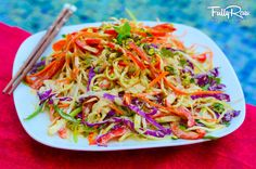 Raw Pad Thai nomnomnom! #Delicious #FullyRaw #Vegan  Thankyou Kristina www.fullyraw.com/recipes
