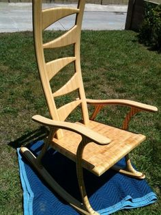 Bamboo Rocking Chair - by kolwdwrkr @ LumberJocks.com ~ woodworking community