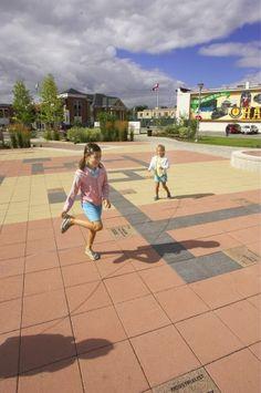 Unilock - Public Square featuring Series 3000 engraved paver