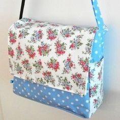 Gratis Taschen Schnittmuster - Nähanleitung für eine Wickeltasche