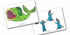 Jonah and the Big Fish Stick Puppets
