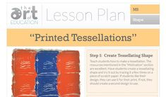 Level: Middle School Art Education Lesson Plan Art Elements:Shape Art Skills:Tessellations, Pattern Making Connections:Math * Get more free lessons like this, on our Lessons Page  The work of M.C. Escher is agreat motivator for this lesson. Students absolutely love learning how to create tessellating shapes. Taking this a step further by adding printmaking makes …