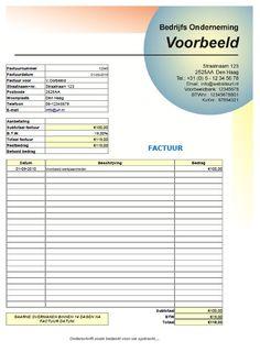 Huisstijl Factuur Spreadsheet