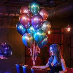 Cheap Ballons Accessories, Buy Directly from China pcs 11 Inch NEW Metallic Latex Balloons Thick Pearly Metal Chrome Alloy Colors Photograph Wedding Party Decoration Balloons Metallic Balloons, Blue Balloons, Helium Balloons, Latex Balloons, Balloon Bouquet, Balloon Arch, Balloon Frame, Balloon Decorations Party, Birthday Party Decorations