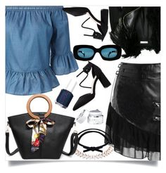 """Untitled #1189"" by nejra-l ❤ liked on Polyvore featuring Lanvin, Versace and Essie"