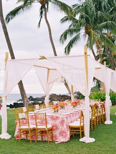 coral colored beach themed wedding reception decoration ideas