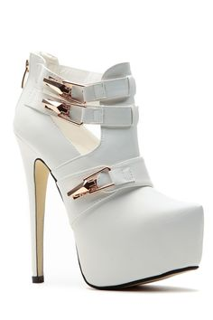 On the Edge White Platform Booties @ Cicihot. Booties spell style, so if you want to show what you're made of, pick up a pair. Have fun experimenting with all we have to offer!