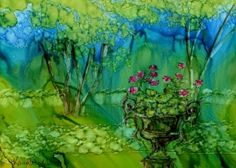 alcohol ink painting. Great video of best alcohol ink paintings