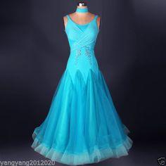 Mosaic stones Ballroom Competition Dance Dress Modern Waltz Standard skirt in…