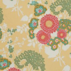 Joel Dewberry Botanique Bold Bouquet Butternut Floral Free Spirit Designer Quilting BTHY Half Yard Quilt Fabric HY by KinshipQuilters on Etsy Cotton Quilting Fabric, Cotton Quilts, Yellow Fabric, Floral Fabric, Motif Floral, Floral Prints, Woodland Fabric, Bouquet, Free Spirit Fabrics