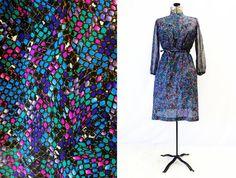 Plus Size - Vintage Jewel Tone Snake Print Shirt Dress by TheCurvyElle, $45.00