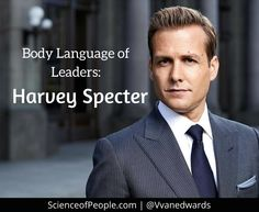 Body Language of Leaders: Harvey Specter #suits